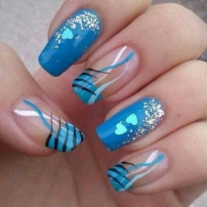 blue nail design 5 20 Stylish Blue Nail Designs of Short nails 2015/16 20 Stylish Blue Nail Designs of Short nails 2015/16 blue nail design 5