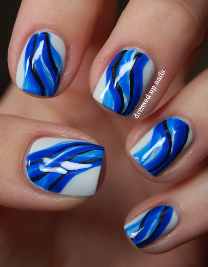 blue nail design 7 20 Stylish Blue Nail Designs of Short nails 2015/16 20 Stylish Blue Nail Designs of Short nails 2015/16 blue nail design 7