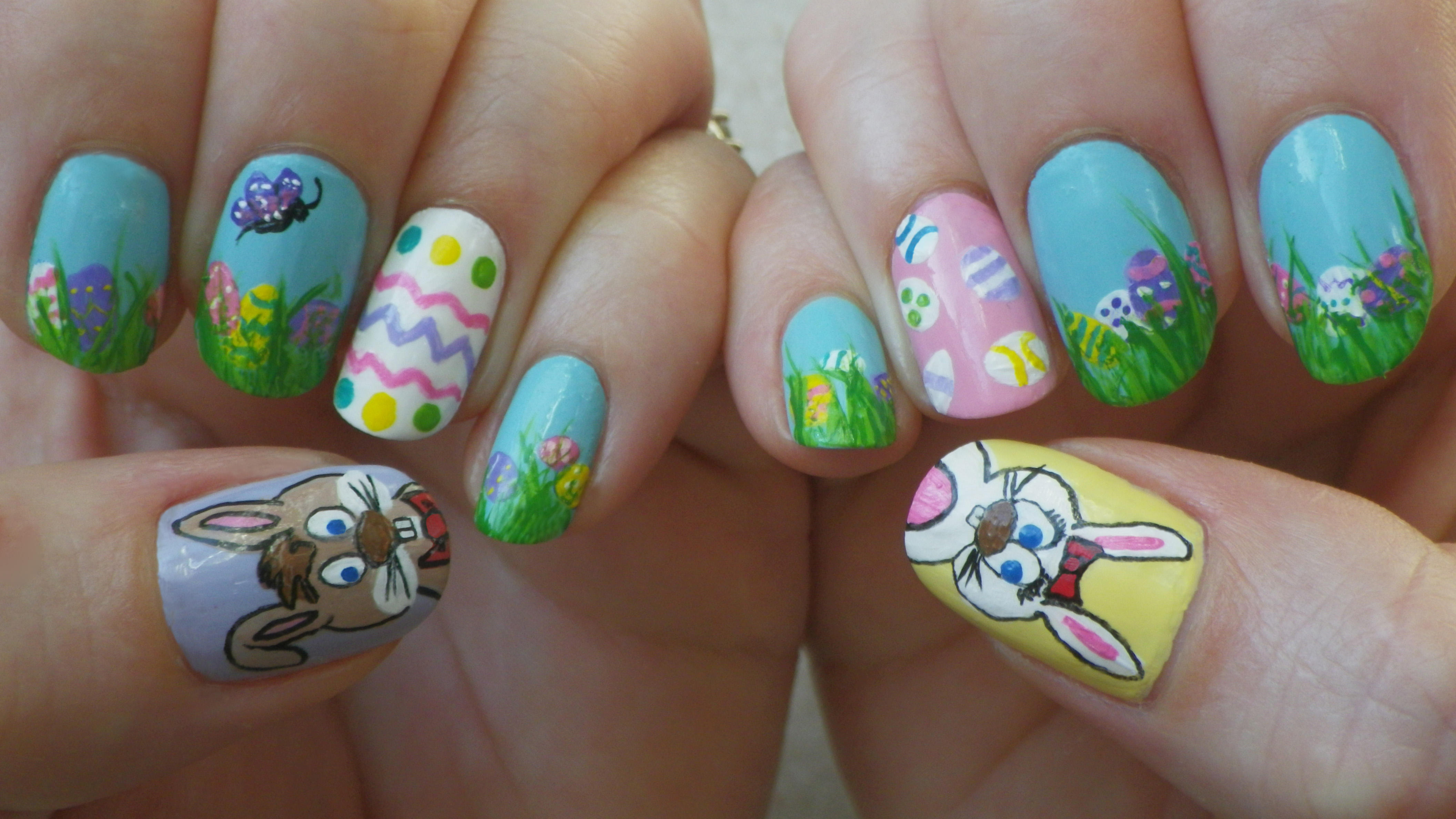easter nail designs 13 30 Awesome Easter Nail Designs 2015 30 Awesome Easter Nail Designs 2015 easter nail designs 13