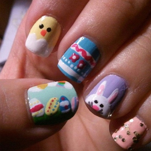 easter nail designs 24 30 Awesome Easter Nail Designs 2015 30 Awesome Easter Nail Designs 2015 easter nail designs 24