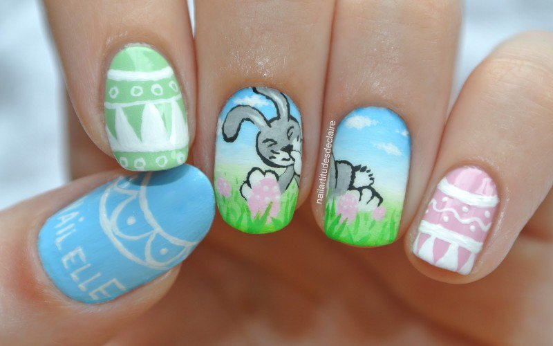 easter nail designs 27 30 Awesome Easter Nail Designs 2015 30 Awesome Easter Nail Designs 2015 easter nail designs 27