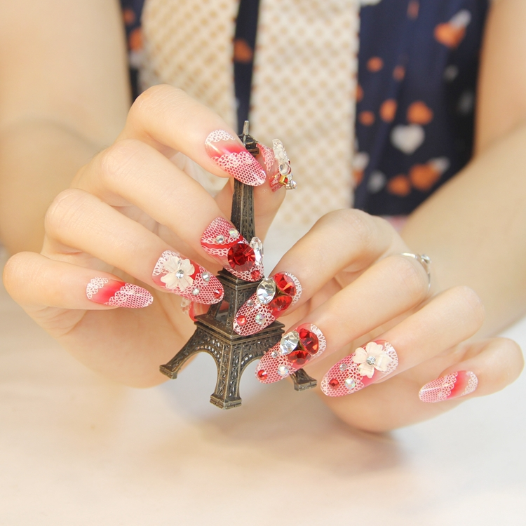 30 Beautiful Fake Nail Design ideas 2015 for Party Season