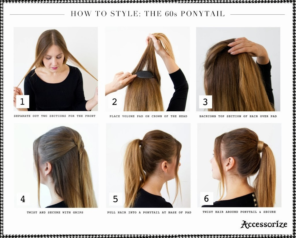 How-to-Style-The-60s-Ponytail 15 Best Summer Hairstyles Tutorials for Women 2015/16 15 Best Summer Hairstyles Tutorials for Women 2015/16 How to Style The 60s Ponytail
