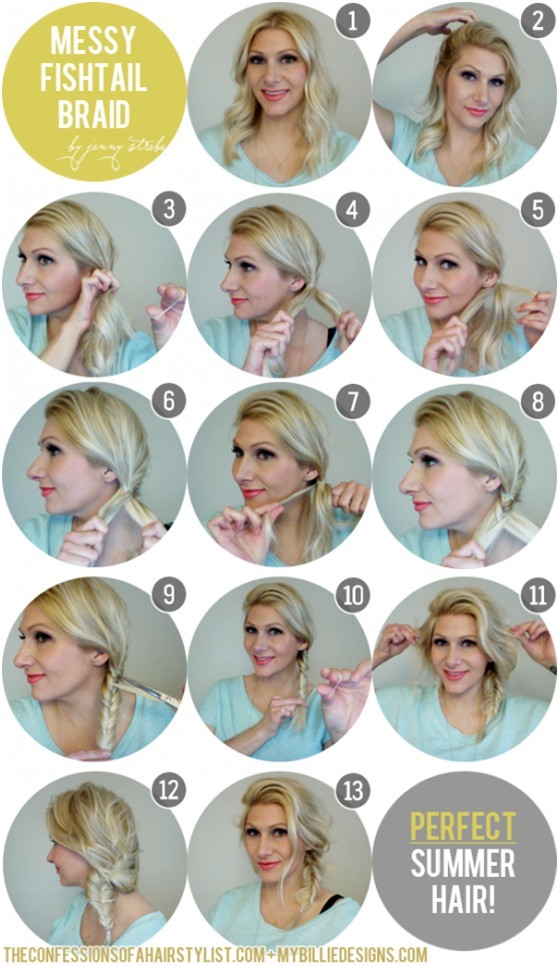 Messy-Side-Fishtail-Braid-Perfect-Summer-Hairstyles 15 Best Summer Hairstyles Tutorials for Women 2015/16 15 Best Summer Hairstyles Tutorials for Women 2015/16 Messy Side Fishtail Braid Perfect Summer Hairstyles