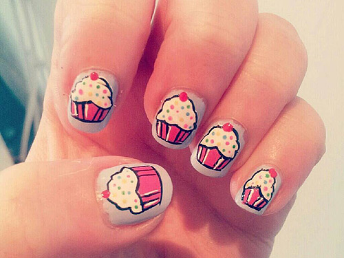 30 Awesome Cupcake Nail Art Designs 2015/16 30 Awesome Cupcake Nail Art Designs 2015/16 cupcake nail art design 11
