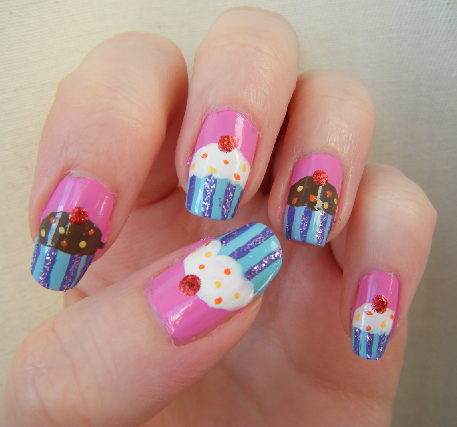 30 Awesome Cupcake Nail Art Designs 2015/16 30 Awesome Cupcake Nail Art Designs 2015/16 cupcake nail art design 14
