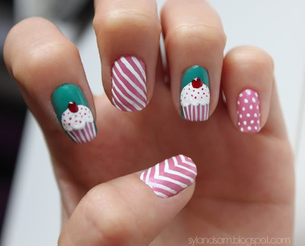 30 Awesome Cupcake Nail Art Designs 2015/16 30 Awesome Cupcake Nail Art Designs 2015/16 cupcake nail art design 21