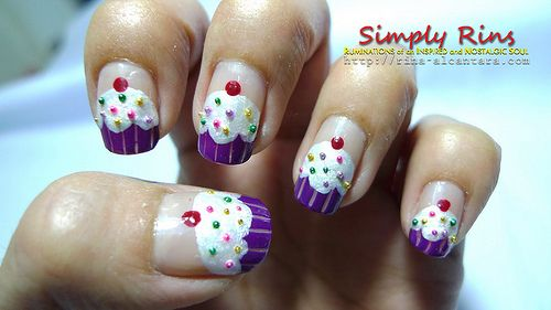 cupcake nail art design 23 30 Awesome Cupcake Nail Art Designs 2015/16 30 Awesome Cupcake Nail Art Designs 2015/16 cupcake nail art design 23