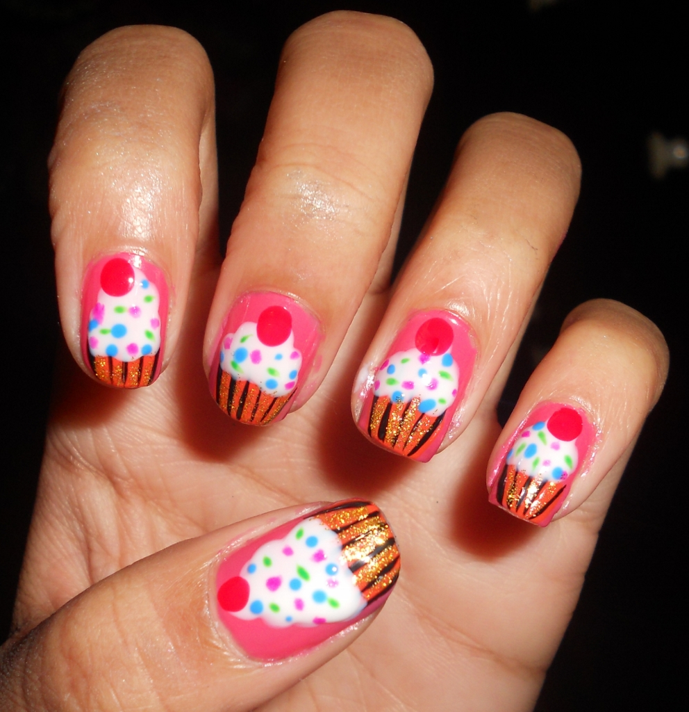 30 Awesome Cupcake Nail Art Designs 2015/16 30 Awesome Cupcake Nail Art Designs 2015/16 cupcake nail art design 6