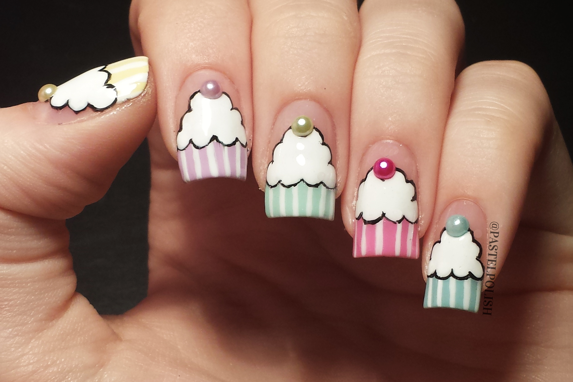 30 Awesome Cupcake Nail Art Designs 2015/16