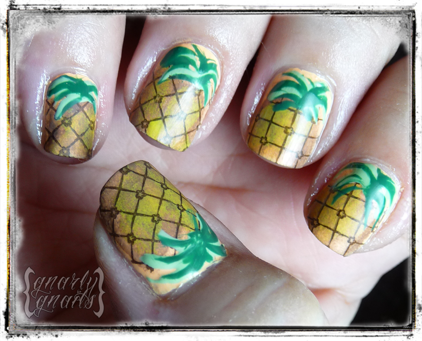pineapple nail art design 11 24 Beautiful Pineapple Nail Art Designs 2015 24 Beautiful Pineapple Nail Art Designs 2015 pineapple nail art design 11