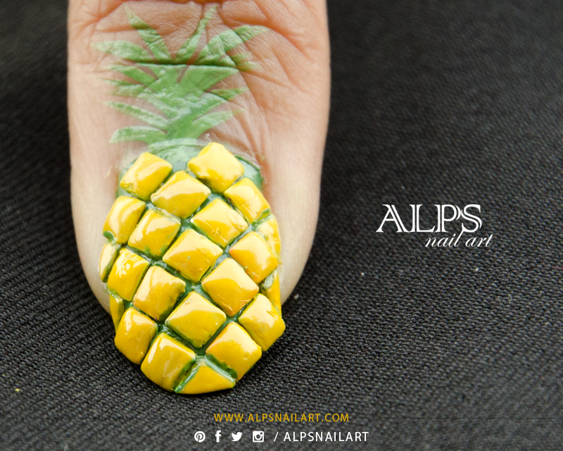 pineapple nail art design 15 24 Beautiful Pineapple Nail Art Designs 2015 24 Beautiful Pineapple Nail Art Designs 2015 pineapple nail art design 15