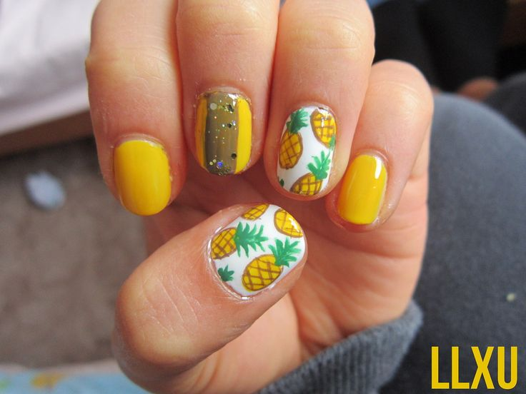 pineapple nail art design 17 24 Beautiful Pineapple Nail Art Designs 2015 24 Beautiful Pineapple Nail Art Designs 2015 pineapple nail art design 17