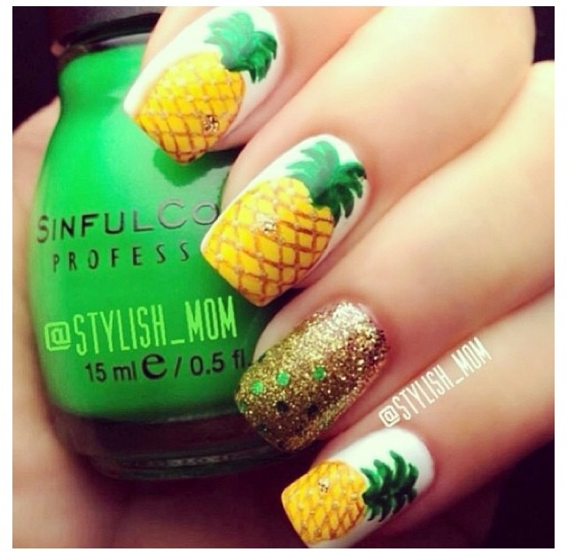 pineapple nail art design 24 24 Beautiful Pineapple Nail Art Designs 2015 24 Beautiful Pineapple Nail Art Designs 2015 pineapple nail art design 24