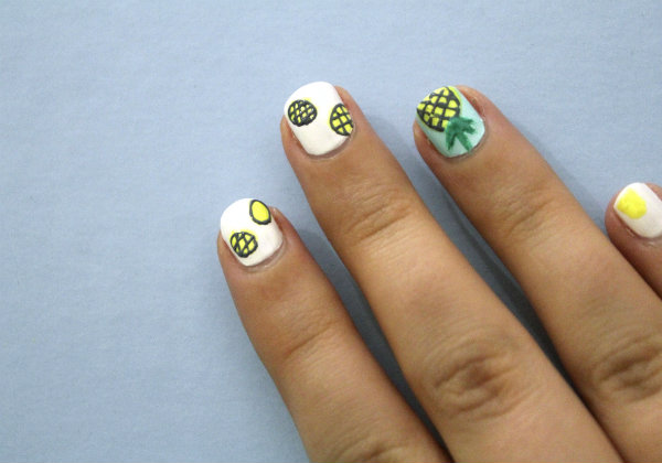 pineapple nail art design 5 24 Beautiful Pineapple Nail Art Designs 2015 24 Beautiful Pineapple Nail Art Designs 2015 pineapple nail art design 5