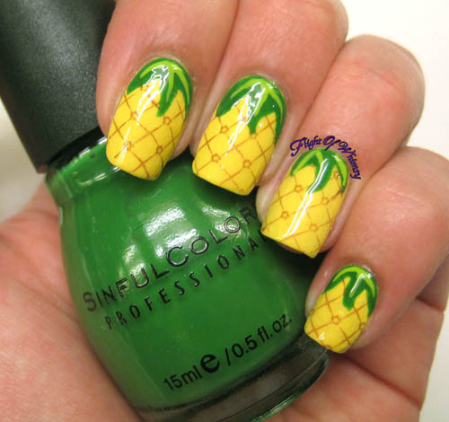 pineapple nail art design 8 24 Beautiful Pineapple Nail Art Designs 2015 24 Beautiful Pineapple Nail Art Designs 2015 pineapple nail art design 8