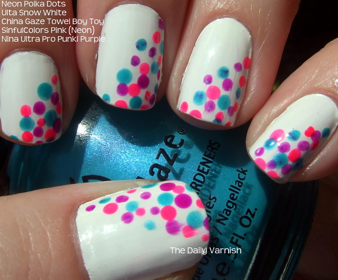 25 Stylish Polka Dots Nails Designs 201516