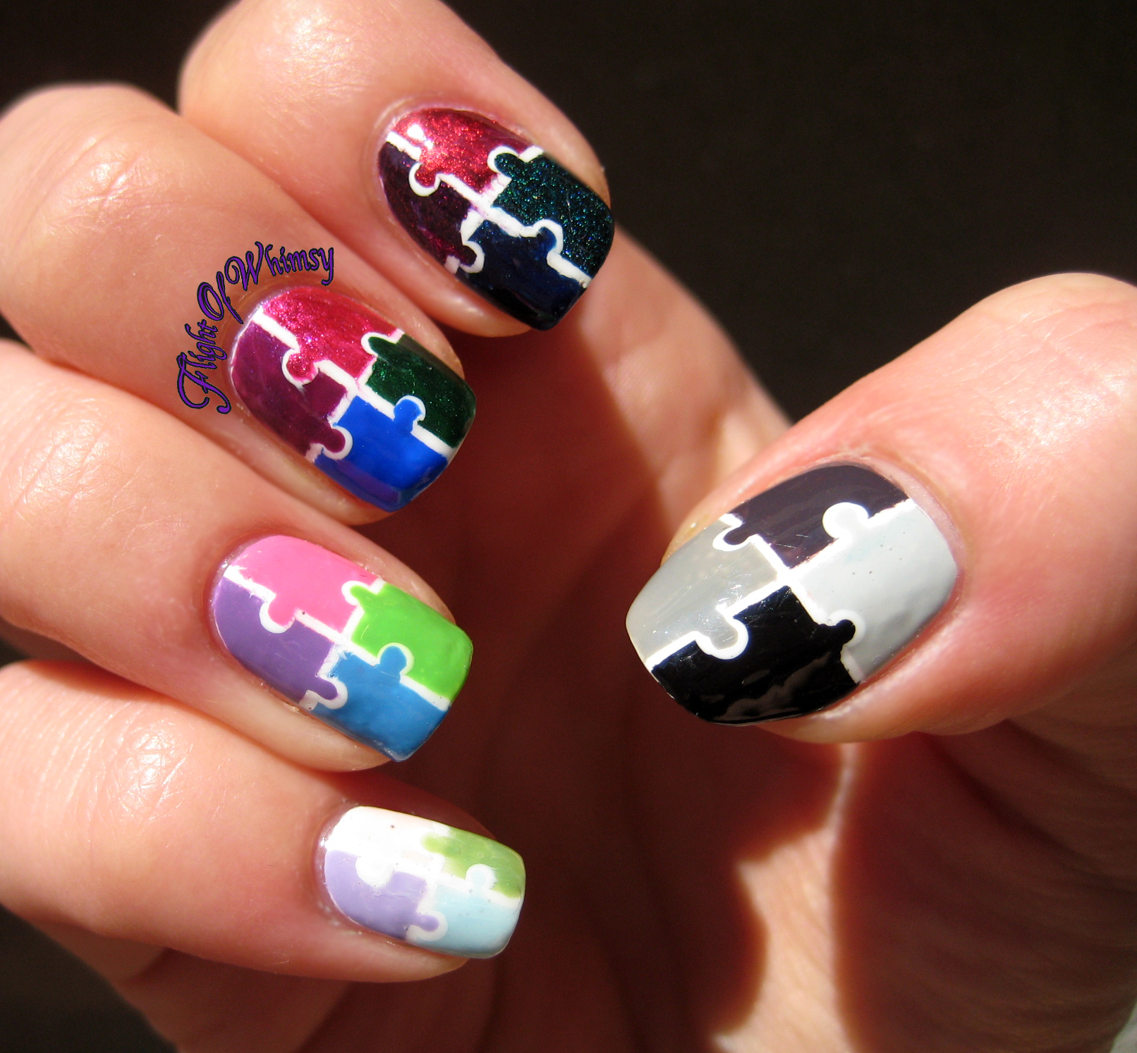 16 Amazing Puzzle Nails Art Designs 2015 16 Amazing Puzzle Nails Art Designs 2015 puzzle nail art designs 13