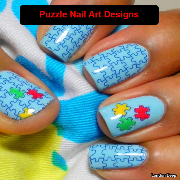 16 Amazing Puzzle Nails Art Designs 2015 16 Amazing Puzzle Nails Art Designs 2015 puzzle nail art designs 3