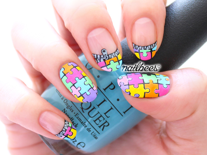 16 Amazing Puzzle Nails Art Designs 2015 16 Amazing Puzzle Nails Art Designs 2015 puzzle nail art designs 4