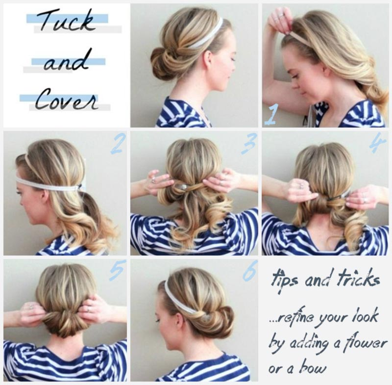 simple-diy-hairstyle-tucked-in-headband-updo 15 Best Summer Hairstyles Tutorials for Women 2015/16 15 Best Summer Hairstyles Tutorials for Women 2015/16 simple diy hairstyle tucked in headband updo