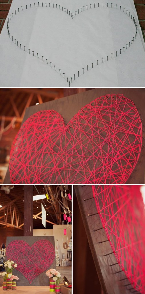 string heart 18 Creative Diy String Art ideas 2015 you can try at home 18 Creative Diy String Art ideas 2015 you can try at home string heart