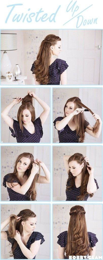 twisted hairstyle 15 Best Summer Hairstyles Tutorials for Women 2015/16 15 Best Summer Hairstyles Tutorials for Women 2015/16 twisted hairstyle