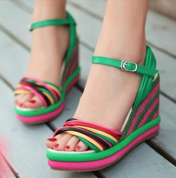 wedge sandals 30 Latest Summer Wedge Heels and Sandals 2015 30 Latest Summer Wedge Heels and Sandals 2015 wedge sandals7