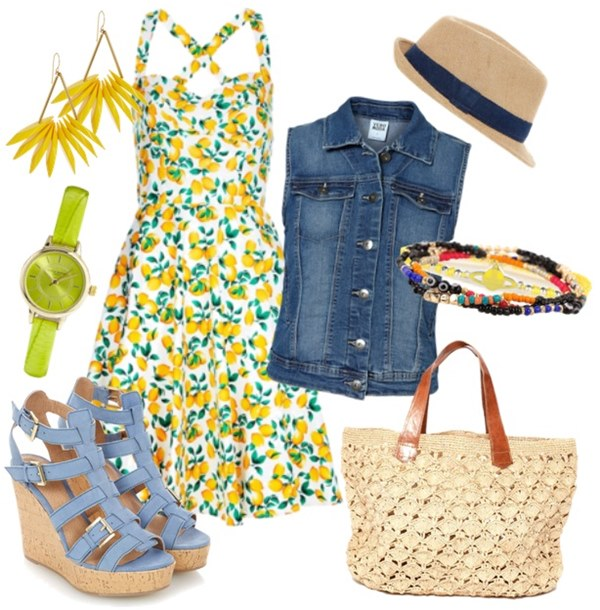Bright-Yellow-Summer-Outfit-Idea 20 Plus Size Summer Outfits On Polyvore 2015/16 20 Plus Size Summer Outfits On Polyvore 2015/16 Bright Yellow Summer Outfit Idea