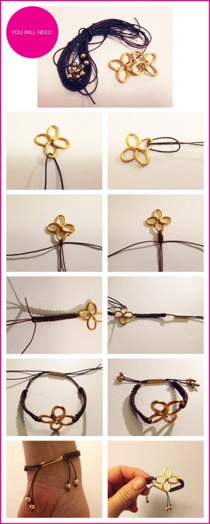DIY-Gold-Clover-Bracelets 22 Easy Diy Summer Clothes & Accessories Projects 22 Easy Diy Summer Clothes & Accessories Projects DIY Gold Clover Bracelets
