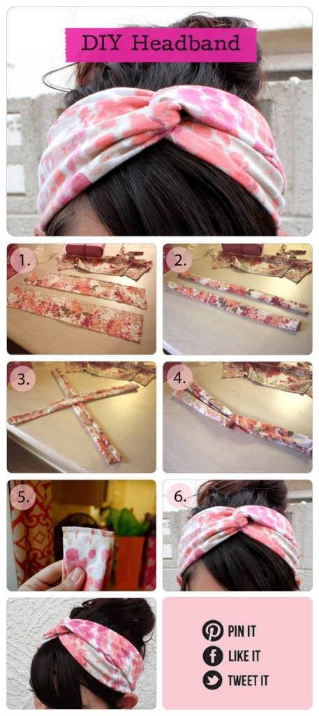 DIY-Twisted-Turban-Headband 22 Easy Diy Summer Clothes & Accessories Projects 22 Easy Diy Summer Clothes & Accessories Projects DIY Twisted Turban Headband