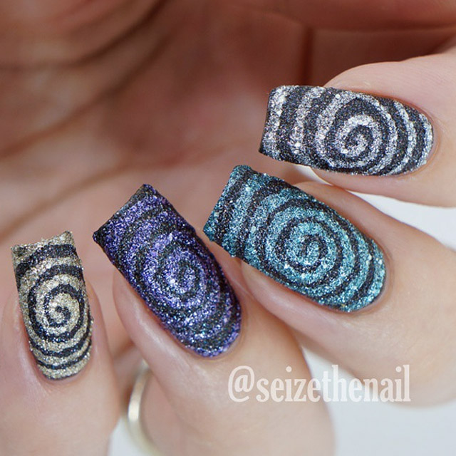Textured-Swirls-nail-art 20 Summer Nail Designs 2015/16 By Seize The Nail 20 Summer Nail Designs 2015/16 By Seize The Nail Textured Swirls nail art