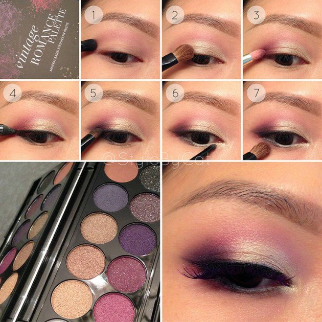 White-Gold-and-Wine-Eye-Makeup-Tutorial 18 Summer Makeup Tutorials 2015/16 to Look Pretty Use These 18 Summer Makeup Tutorials 2015/16 to Look Pretty White Gold and Wine Eye Makeup Tutorial