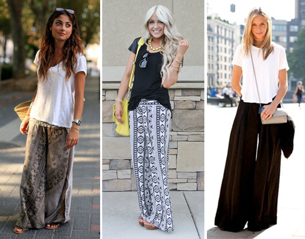 How to wear wide leg pants - 7-Day Knit Pants with Wide Leg Plus ...