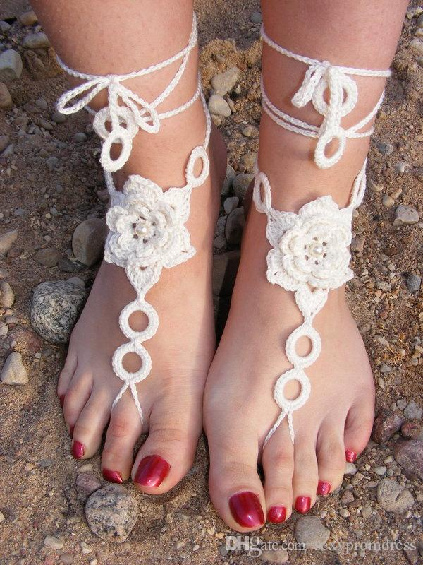 2015-beach-wedding-white-crochet-wedding 21 Beach Wedding Barefoot Sandals 2015/16 21 Beach Wedding Barefoot Sandals 2015/16 2015 beach wedding white crochet wedding
