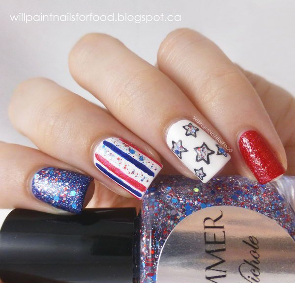 6-glitter-4th-of-july-nails 21 Awesome 4th Of July Patriotic Day Nail Design Ideas 21 Awesome 4th Of July Patriotic Day Nail Design Ideas 6 glitter 4th of july nails