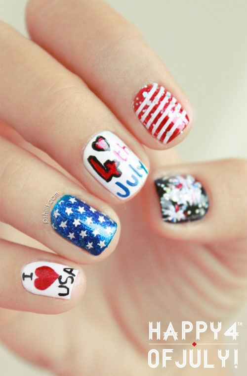 Awesome-4th-Of-July-Nail-Art-Designs-Ideas 21 Awesome 4th Of July Patriotic Day Nail Design Ideas 21 Awesome 4th Of July Patriotic Day Nail Design Ideas Awesome 4th Of July Nail Art Designs Ideas