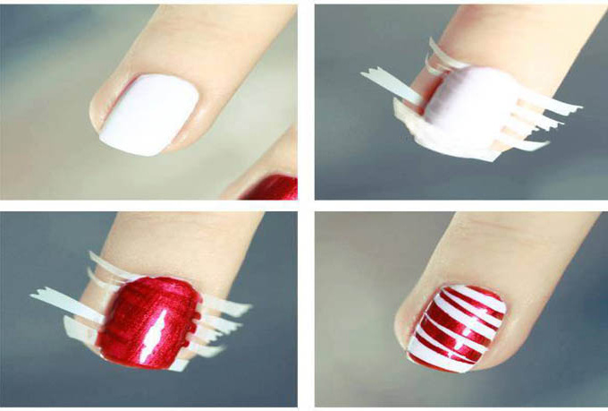 25 nail art designs tutorials step by step for beginners - Easy nail design ideas to do at home ...