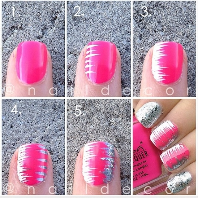 Nail-Art-Tutorial-Step-By-Step-For-Beginners 25 Nail Art Designs Tutorials Step By Step for Beginners 25 Nail Art Designs Tutorials Step By Step for Beginners Nail Art Tutorial Step By Step For Beginners