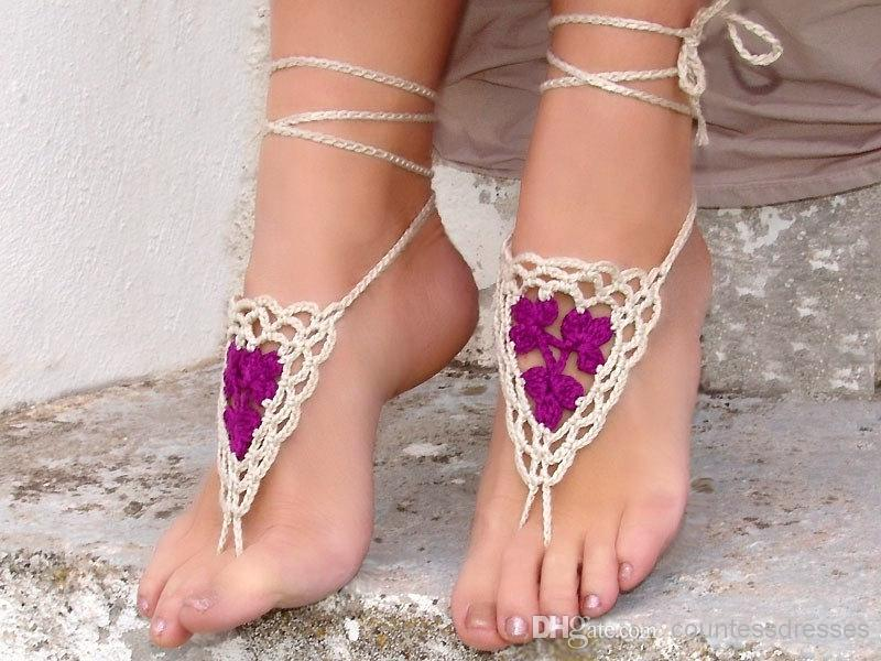beach-wedding-white-purple-crochet-wedding 21 Beach Wedding Barefoot Sandals 2015/16 21 Beach Wedding Barefoot Sandals 2015/16 beach wedding white purple crochet wedding