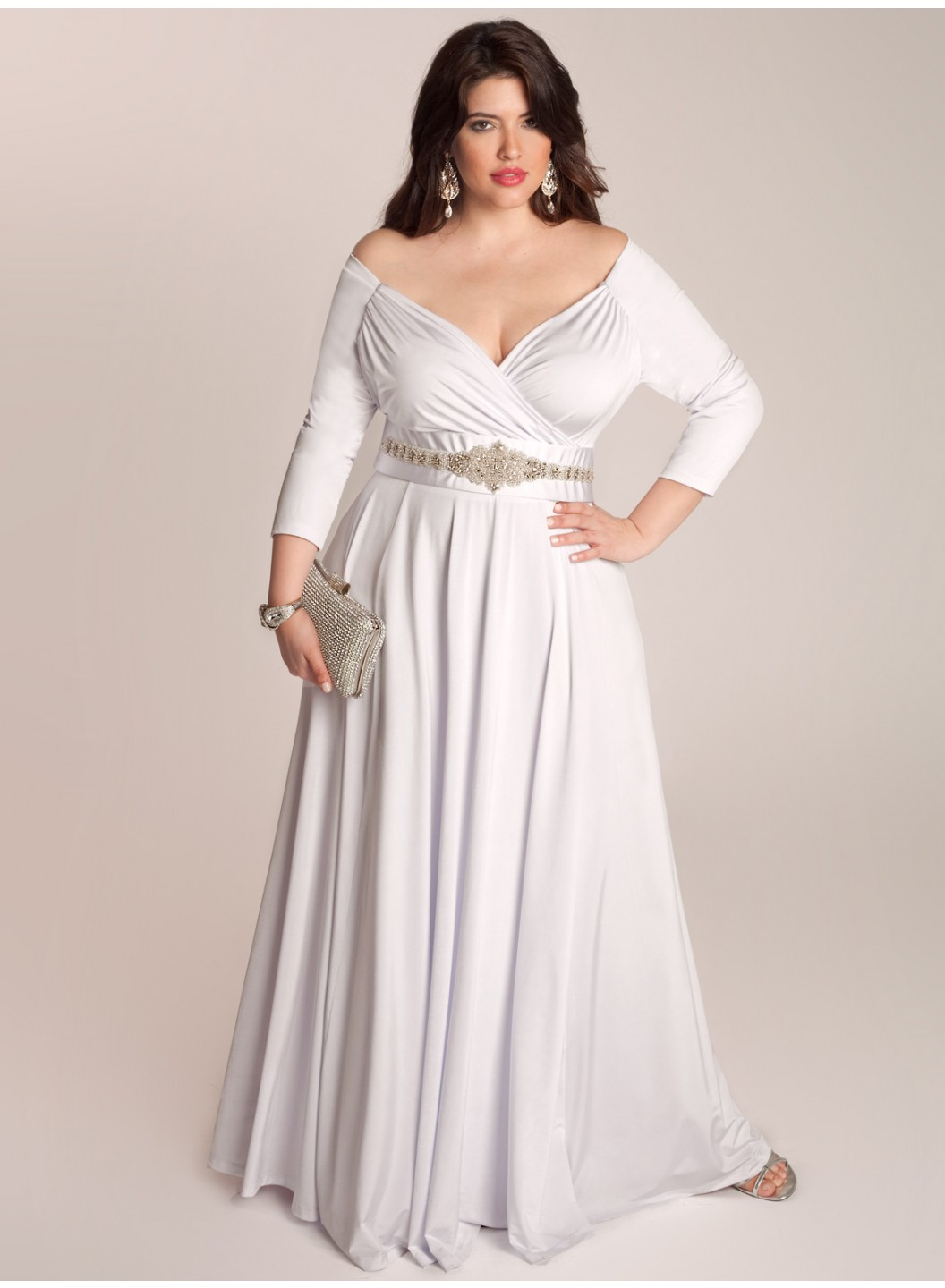 bellerose-plus-size-wedding-gown1 21 Gorgeous Plus Size Wedding Outfits for Guests 2015/16 21 Gorgeous Plus Size Wedding Outfits for Guests 2015/16 bellerose plus size wedding gown1