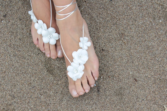bridal-barefoot-sandal-5 21 Beach Wedding Barefoot Sandals 2015/16 21 Beach Wedding Barefoot Sandals 2015/16 bridal barefoot sandal 5