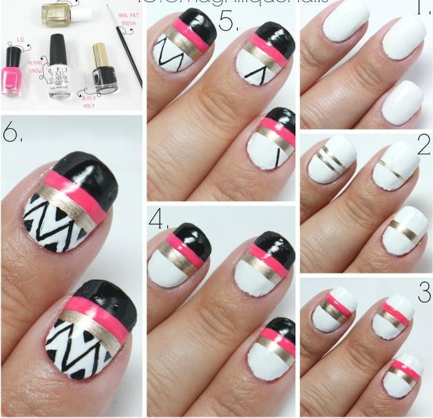 easy-nail-art-tutorials41 25 Nail Art Designs Tutorials Step By Step for Beginners 25 Nail Art Designs Tutorials Step By Step for Beginners easy nail art tutorials41