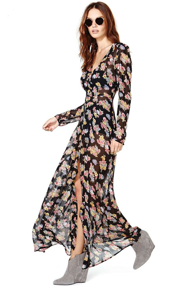 floral dress with sleeves 3 15 Beautiful Long Sleeve Floral Dresses 2015/16 15 Beautiful Long Sleeve Floral Dresses 2015/16 floral dress with sleeves 3