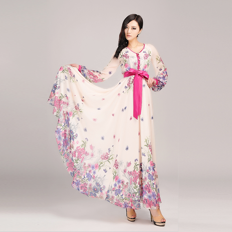 floral dress with sleeves 5 15 Beautiful Long Sleeve Floral Dresses 2015/16 15 Beautiful Long Sleeve Floral Dresses 2015/16 floral dress with sleeves 5