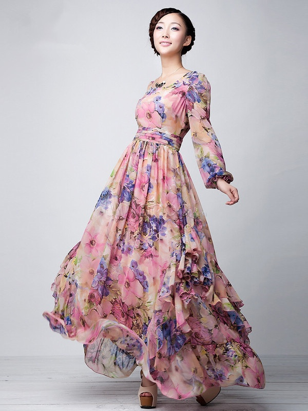 floral dress with sleeves 7 15 Beautiful Long Sleeve Floral Dresses 2015/16 15 Beautiful Long Sleeve Floral Dresses 2015/16 floral dress with sleeves 7