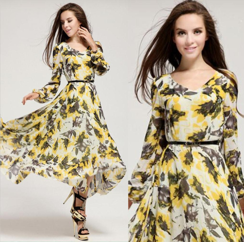 floral dress with sleeves 8 15 Beautiful Long Sleeve Floral Dresses 2015/16 15 Beautiful Long Sleeve Floral Dresses 2015/16 floral dress with sleeves 8
