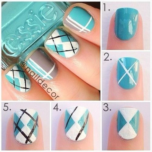 nail art design tutorial step by step for beginners  25 Nail Art Designs Tutorials Step By Step for Beginners 25 Nail Art Designs Tutorials Step By Step for Beginners step by step easy nail art ideas