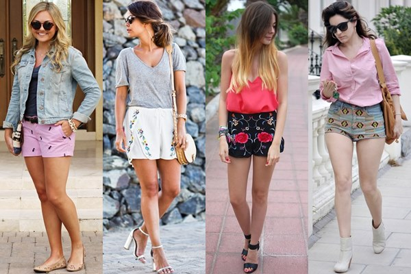 Embroidery-Shorts-Ideas-for-Spring-Summer 25 Latest Fashion Trends of UK for Shorts in Summer 2015/16 25 Latest Fashion Trends of UK for Shorts in Summer 2015/16 Embroidery Shorts Ideas for Spring Summer