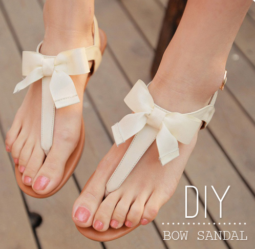 DIY-Bow-Sandal 18 Adorable Diy Summer Flip Flops For Girls 18 Adorable Diy Summer Flip Flops For Girls DIY Bow Sandal